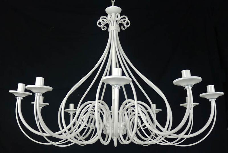 lampadario bianco shabby