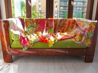 Moda y complementos de seda. Hecho en España: fulares, chales, pañuelos, blusones, vestidos, pantalones, kimonos....de seda