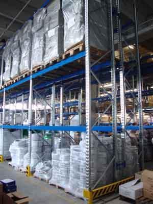 Scaffalatura portapallet GP80L per UDC medio pesanti; progettate e prodotte integralmente in Italia.