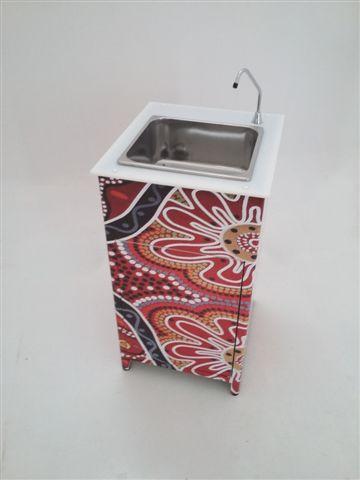 Lavamani portatile in alluminio