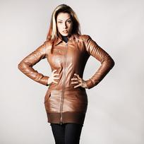 Giacca donna in pelle
