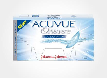 ACUVUE OASYS for Astigmatism contact lenses with HYDRACLEAR by Johnson & Johnson (6 lenses/ box).