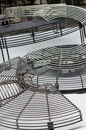 Wire fan guards are produced by Customer request. We are direct supplier of world leading manufactures of  building and constrcution machines. its purpose it to protect ventilytion and cooling system.