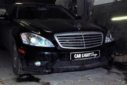 Repair of car headlights Mercedes-Benz S550 w221