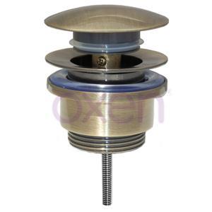 Válvula marca OXEN fabricada en latón acabado bronce / oro viejo.