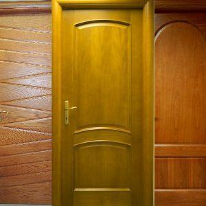 Wooden slatted doors