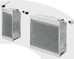 Das FE-System ermöglicht die Umrüstung von Gewebefilter auf die energieeffizientere Technik mit elektrostatischen Filtern, ohne aufwändige Umbauarbeiten. Der Druckverlust beträgt nur max. 150 Pa