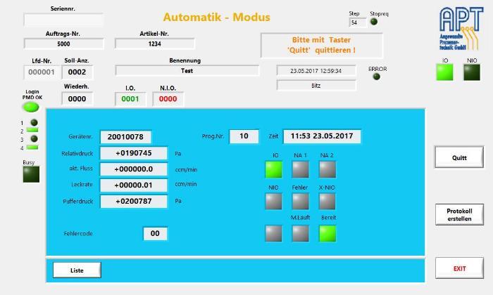 PMD02-Auftragsbearbeitung-Software PMD02-AB
