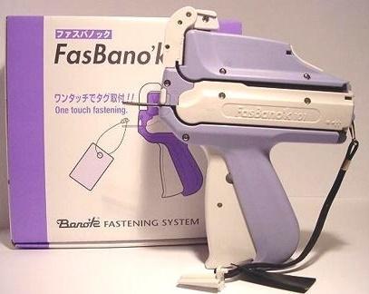 Con una sola pistola etiquetar FasBano´k 101 usted puede colocar Marchamos Textiles cordón Hilo o Precintos Manuales Seguridad Plástico.