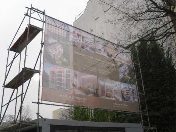 Aussenwerbung Bauschilder