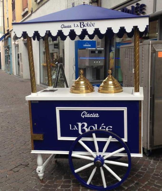 """Chariot à glaces style """" Belle époque"""" personnalisé """"LA BOLEE"""""""