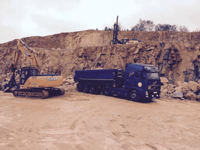 Transport de matériaux de carrière