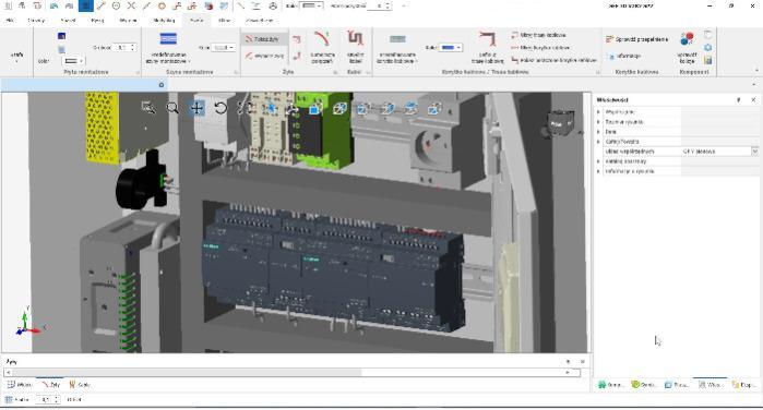 Vorbereitung von Schaltschränkeproduktion in 3D CAD