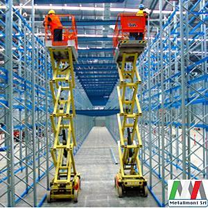 Montaggio scaffalature industriali in tutta italia. Servizio di rilievo, ritiro scaffalature usate, bonifica magazzino