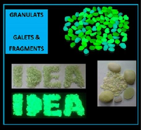 Granulat photoluminescent,phosphorescent