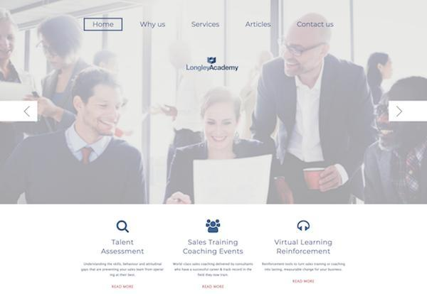 The Longley Sales Academy Ltd. Webiste