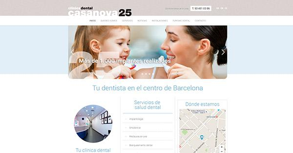 Web corporativa para clínica dental