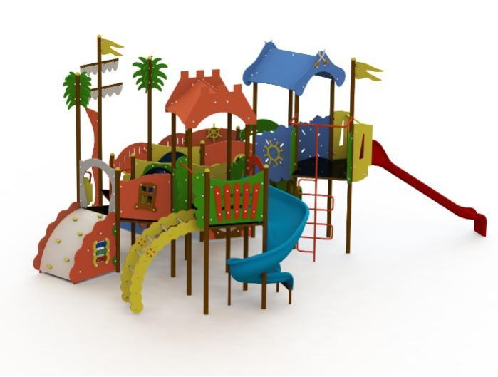 Children playground equipment TARZAN serie