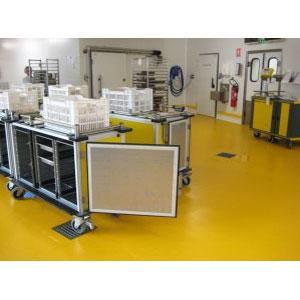 Revêtement facilement dé contaminable, destiné à protéger les surfaces, pour une protection haute résistance