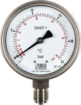 Pressure gauge all stainless steel
