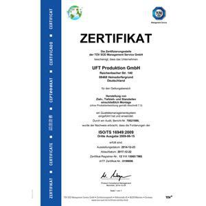 Nach ISO TS 16949 und ISO 9001 zertifiziert. Serienproduktion mit allen wichtigen QM-Werkzeugen. Wir erfüllen alle von der Industrie und von unseren Auftraggebern geforderten Normierungen.