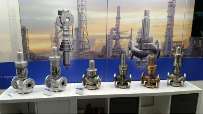 Samples of different regulating valves