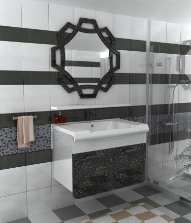 luxury bathroom cabinet models, 80 cm Bathroom cabinet body completely MDF material Covers pvc coated MDF membrane