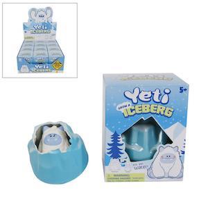 Wachsender Yeti im Eis