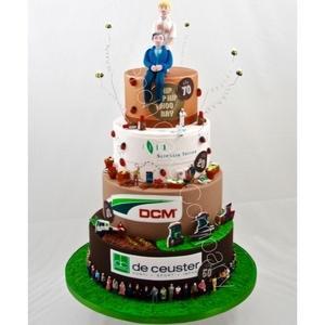 Pieces montees entierement decorees et personnalisees en fonction de votre evenement corporate: anniversaire, inauguration, promotion, retraite, fete d'entreprise. Livraison dans toute la Belgique.