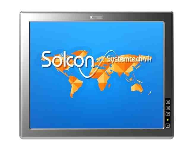 Industrie PC für Hygienebereiche mit Edelstahlrahmen und PCAP-Touchscreen mit Gestenerkennung, robust und leicht zu reinigen.