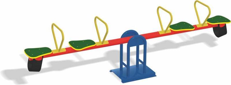 Juego infantil para parques sube y baja cuatro plazas.