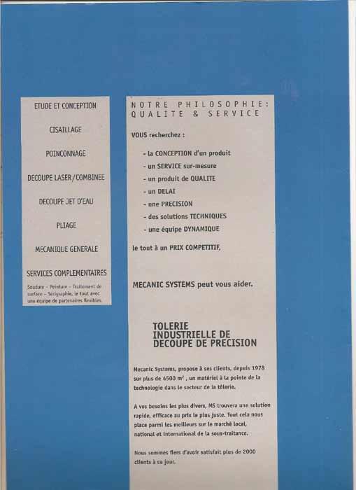 Brochure Mecanic Systems