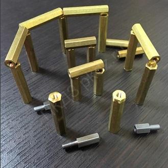 Изготовим шестигранный стойки из стали, латуни.
