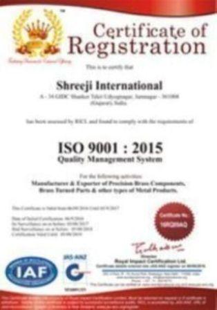 ISO 9001:2015 Certification from RICL