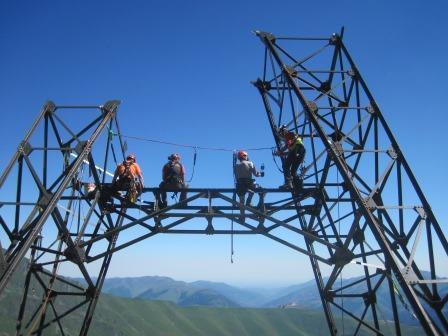 EDF Lys Montage du Pylône du Blondin