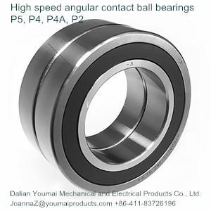 High speed angular contact ball bearings