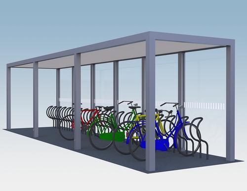 Fahrradüberdachung SHARP
