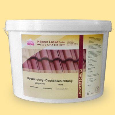 Höpner Acrylic Roofcoat - longlife up to 20 years, Höpner Spezial Acryl Dachbeschichtung langzeitgetestet bis 20 Jahre Lebensdauer