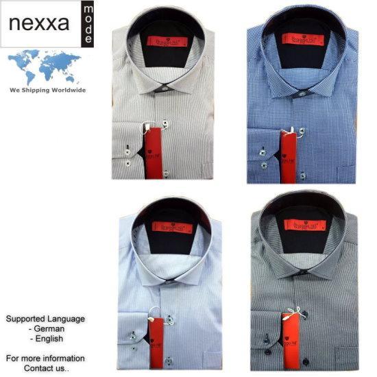 Herren Hemden in verschiedenen Uni Farben sowie Muster bzw. Streifen vorhanden. Min. Order 30 Herren Hemden im Set, Model mix möglich. Bitte kontaktieren Sie uns für weitere Informationen