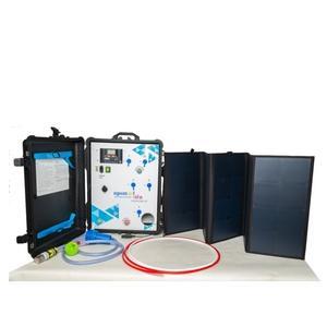 Potabilizadora autónoma y portátil 0.01µm - hasta 300L/hora con membranas de Ultrafiltración - solar/12-48Vdc/red