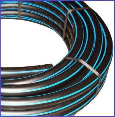Tubería de polietileno de banda azul