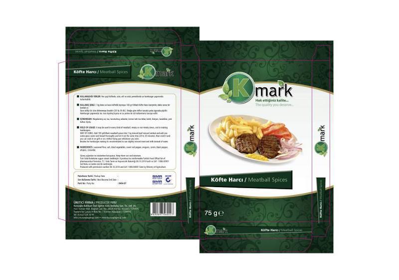 K-Mark Köfte Harcı  KULLANILDIĞI YERLER: Her çeşit köftede, sulu, etli ve etsiz yemeklerde ve hamburger yapımında kullanılabilir.