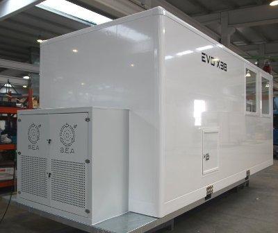 L'unité EVO X38 est le bungalow de decontamination développé pour l'industrie , les forces armées et les collectivités .