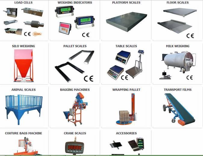 Full range of weighing machines
