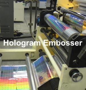 High precision Hologram Embosser security printing