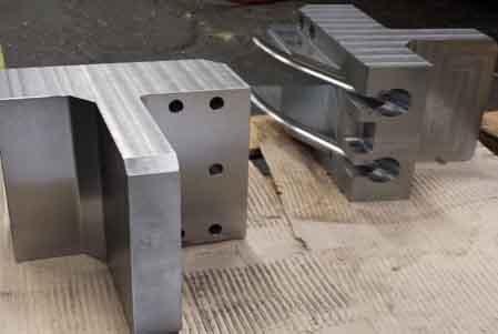 Frästeile aus Stahl und Aluminium
