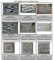 Mixed color wall cladding panels