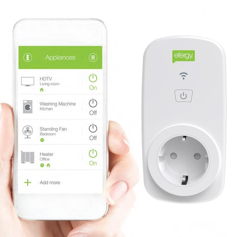 The ego uses the latest in encrypted Wi-Fi communication technology to allow the user to switch appliances and monitor the energy consumption of any device connected to the smart socket. Android/iOs