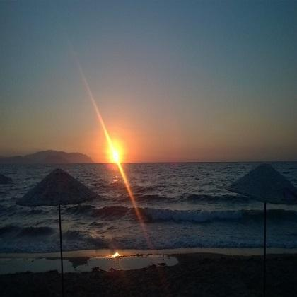 Kusadasi beautiful sunset