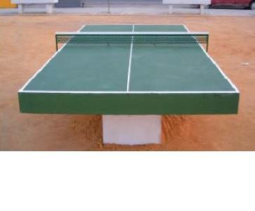 Mesa de pin pong de hormigón